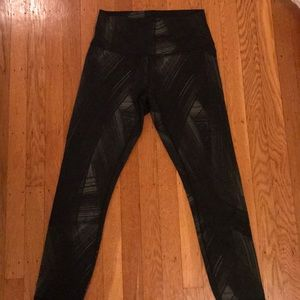 Lululemon High Times patterned high rise leggings